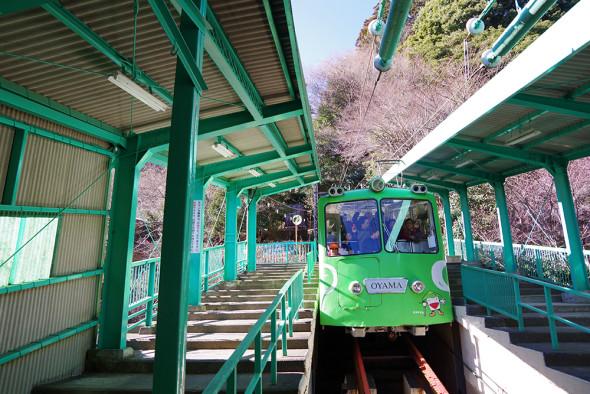ぐんぐん登るケーブルカー(大山ケーブルカー)